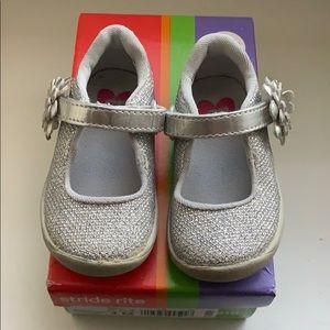 Baby/Toddler Walker Stride Rite Girls Silver Shoes